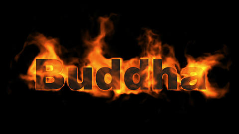 buddha,fire word Stock Video Footage