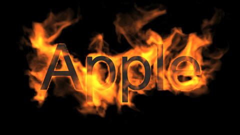 apple,fire word Stock Video Footage