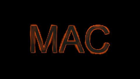 Mac,fire word Stock Video Footage