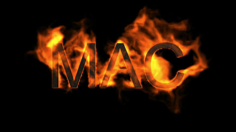 Mac,fire word Animation