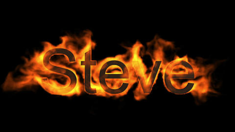 Steve,name,fire word Stock Video Footage