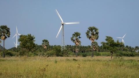 Energy alternatives. Wind farm in Indian Footage