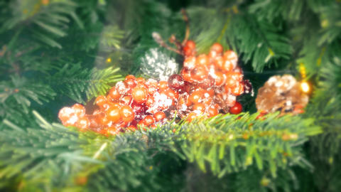 Xmas. Three close-ups. Decorations on the Christmas tree Footage