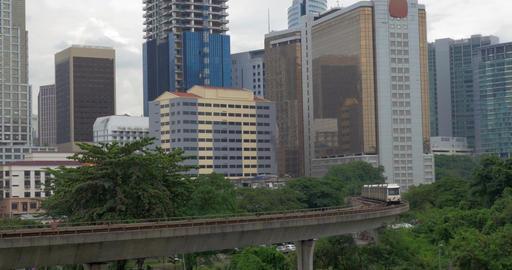 Train riding through Kuala Lumpur, Malaysia Footage