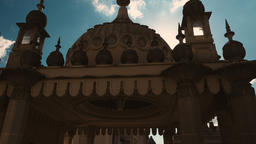 Low key gimbal shot featuring the famous Royal Pavilion in Brighton, England, UK Footage
