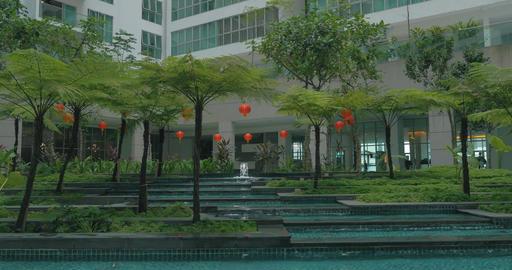 In Kuala Lumpur, Malaysia seen skyscraper and unusual fountain Footage