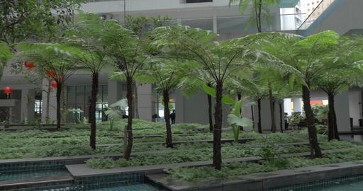 In Kuala Lumpur, Malaysia seen building and unusual fountain Footage
