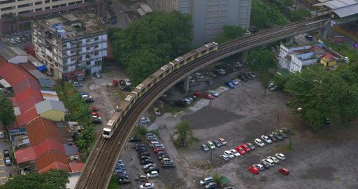 Overground railway in Kuala Lumpur, Malaysia Footage