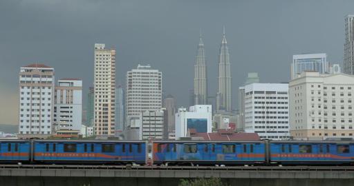 Overground train in Kuala Lumpur, Malaysia Footage