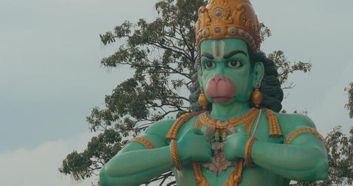View of Hanuman statue in Batu Caves, Kuala Lumpur, Malaysia Footage
