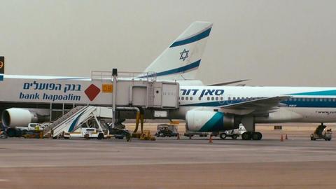 Tracking shot of terminal 3 at Ben Gurion international airport