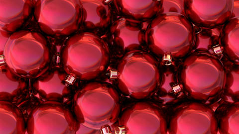 Red Christmas balls 3D animation CG動画素材