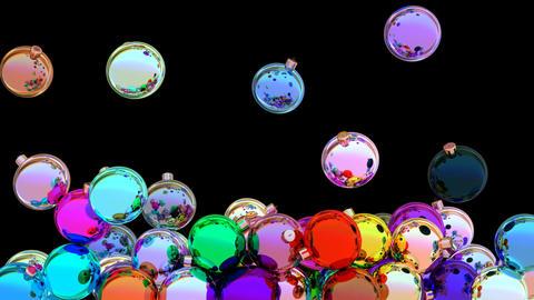 Colorful christmas balls 3D animation Animation