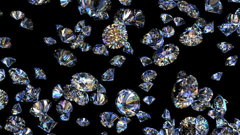 Diamonds looping 3D animation Animation