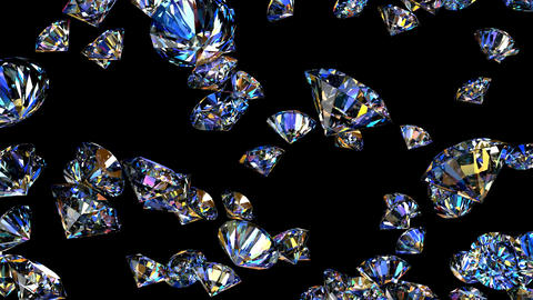 Realistic 3D animation of the diamonds Animation