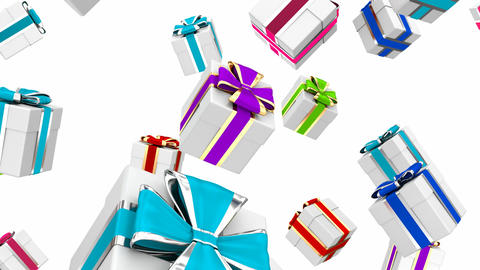 Colorful gift boxes 3D looping animation Animation