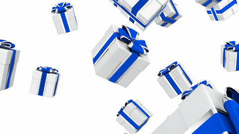 Gift boxes 3D looping animation Animation