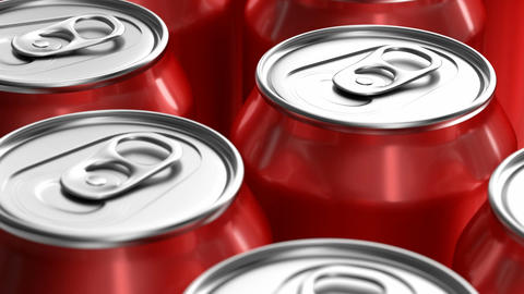 Red soda cans 3D animation Animation