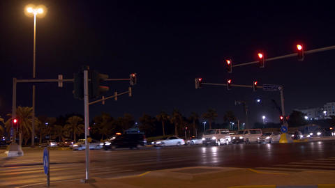 4K Traffic at busy intersection Live Action