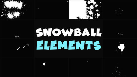 Snowball Elements After Effects Template