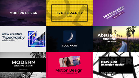 Typography Pack Apple Motion Template
