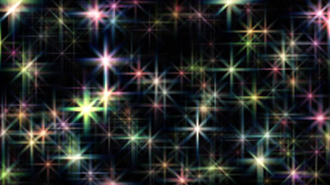 Large abstract colorful twinkling stars motion background loop 애니메이션