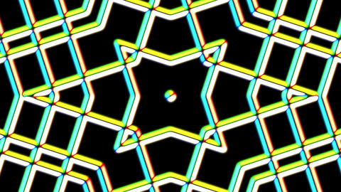 Chromatic Weird Grid Kaleidoscope Psychedelic Abstract Motion Background Loop 1 Animation