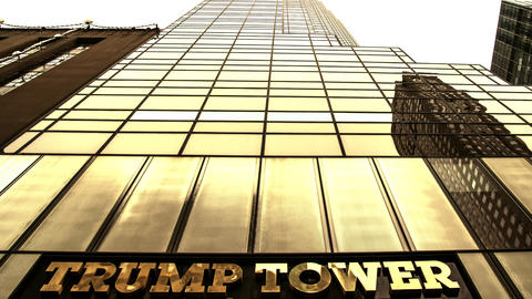 Trump Tower Gold Pan Up Footage
