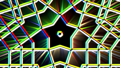 Chromatic Alien Grid Kaleidoscope Psychedelic Abstract Motion Background Loop 2 Animation