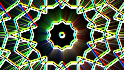 Chromatic Alien Grid Kaleidoscope Psychedelic Abstract Motion Background Loop 5 Animation