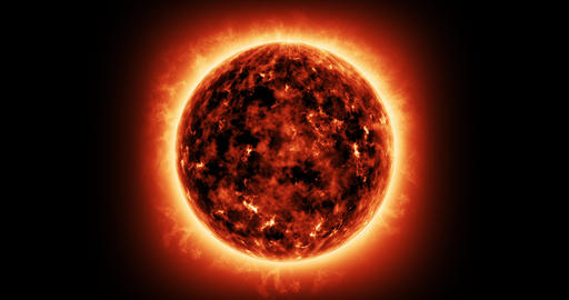Atmosphere solar in the sun Animation