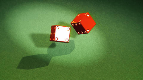 Dice Roll Three Clips in One: Double One, Double Five and Double Six Animation
