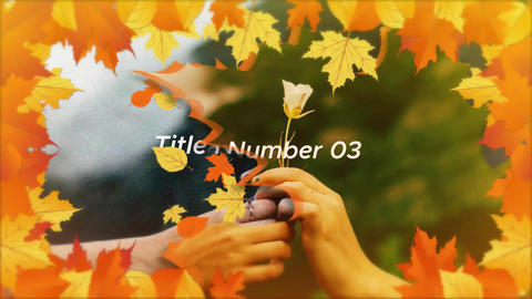 Autumn slideshow-store After Effects Template