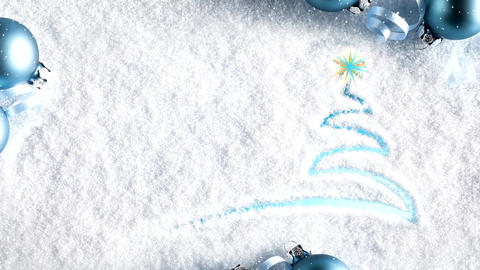 Chirstmas tree motion graphics with snowfall Animation