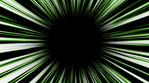 Animation of green high-speed radial background.Footage Animation