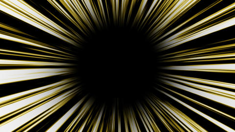Animation of yellow high-speed radial background.Footage Animation
