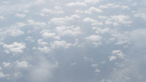 Skyline view above the clouds from airplane Footage
