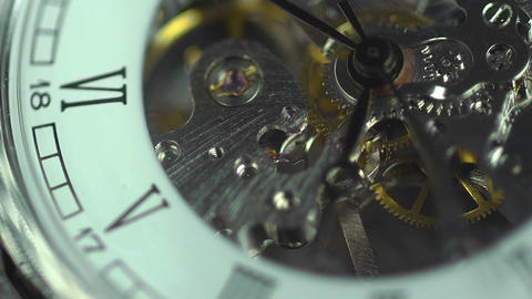 Ancient clock close-up, transience of time. The price of every minute in life Footage
