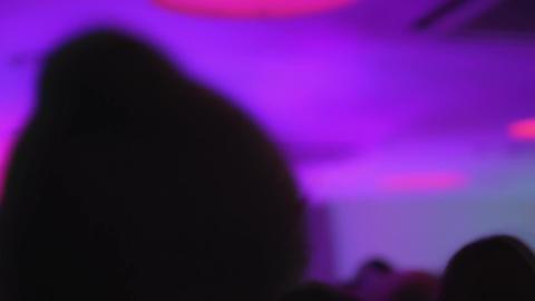 Dancing crowd, night club atmosphere. Happy people partying and having fun Footage