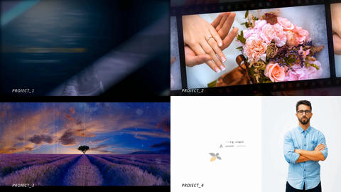 50% savings!!! 4 stylish slideshows in one file. Collection-8 After Effects Template