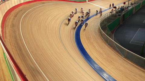 Velodrome race start Footage
