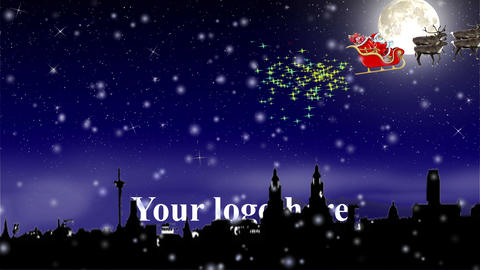 Xmas intro logo opener After Effects Template