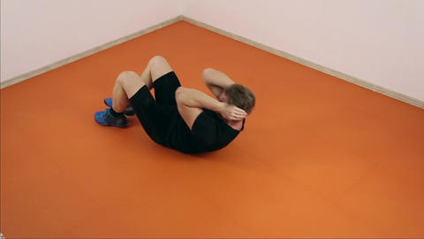 Athlete doing physical exercise Footage