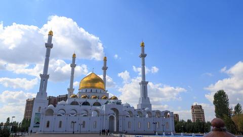 Nur-Astana Mosque in Astana, Kazakhstan Footage