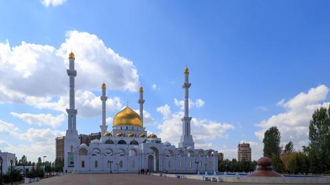 Nur Astana Mosque in Astana, Kazakhstan. TimeLapse Footage