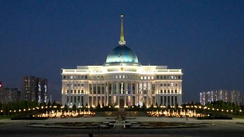 Akorda Presidential Palace at Night Footage