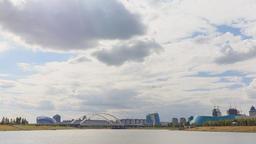 Astana Bridge, Kazakhstan. Day time lapse Footage