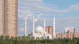 Hazrat Sultan Mosque. Day. Almaty, Kazakhstan. TimeLapse Footage