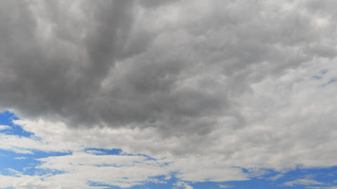Clouds in the sky when the wind is strong. Time Lapse Footage