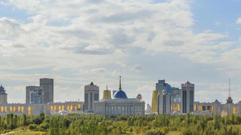 The main attractions of the new Astana. Akorda Palace, Baiterek, Khan Shatyr and Footage